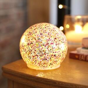 Small LED Rainbow Glitter Light Globe