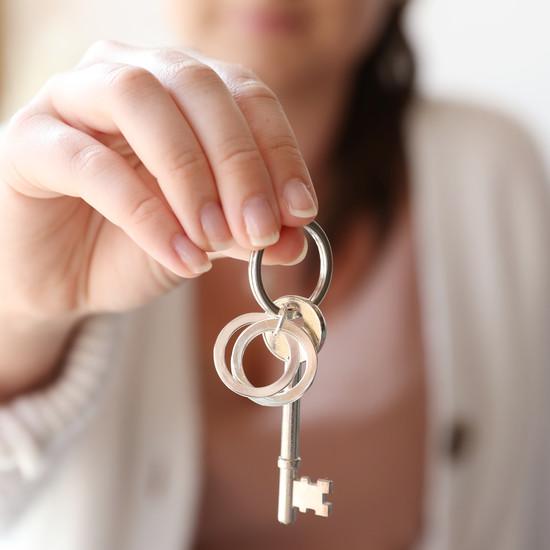 Silver Interlocking Rusian Ring Keyring
