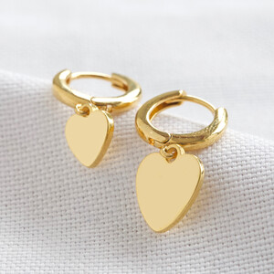 Small and Large Heart huggies in Gold