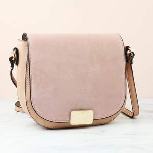 Fold Over Handbag - Blush - PU & Leather
