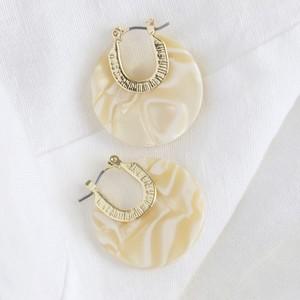 White Resin Discs Earrings