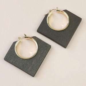 Dark Wood Geometric Hoop Earrings
