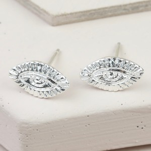 Antique Eye Stud earrings In Silver