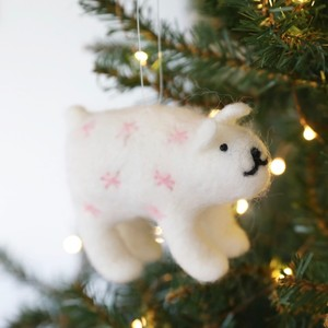 Felt Polar Bear Hanging Decoration