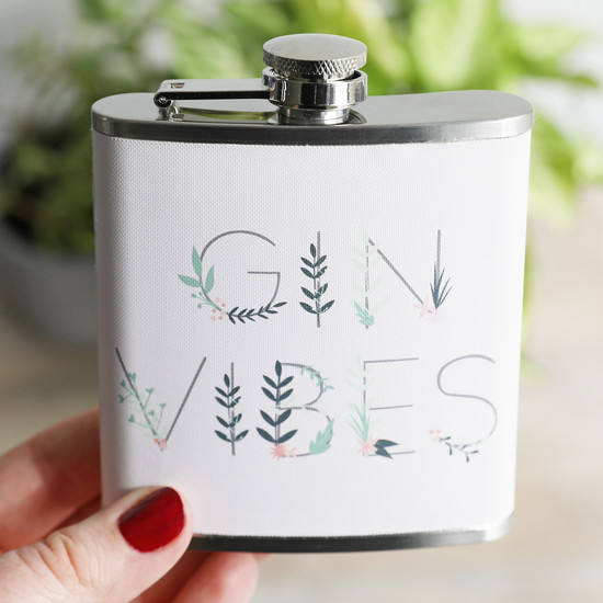 'Gin Vibes' Hip Flask