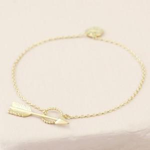 Gold Arrow & Toggle Bracelet - S/M