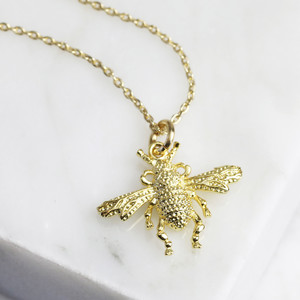 New Small Bee Necklace - Gold