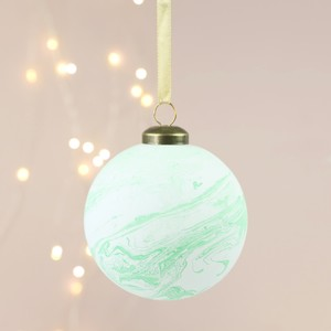 Green Marble Bauble