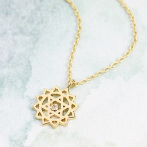 Heart Chakra Necklace In Gold