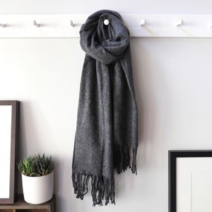 Lambswool Scarf in Dark Grey
