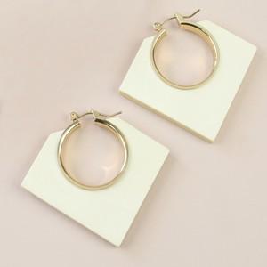 Light Wood Geometric Hoop Earrings