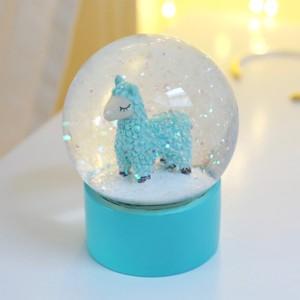 Llama Glitter Snowglobe