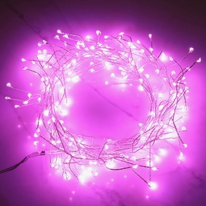 Plug In LED Pink Firefly String Lights