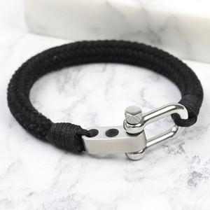 Men's Adjustable Rope Cord Bracelet Black