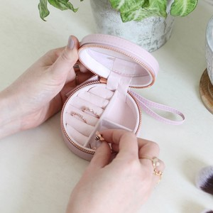 Lavender Round Pu travel  Jewellery Case