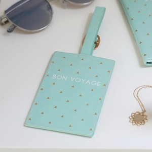 Mint Green 'Bon Voyage' Luggage Tag