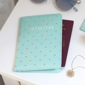 Mint Green 'Jetsetter' Passport Holder