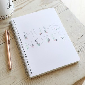 'Mum's Notes' A5 Notebook