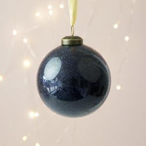 Navy Glitter Bauble