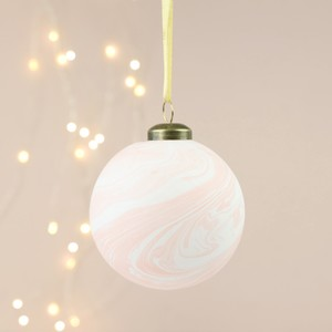 Pink Marble Bauble
