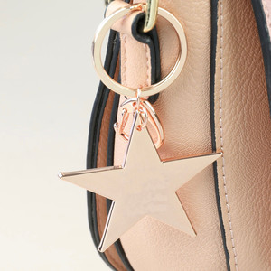 Rose Gold Shiny Star Keyring