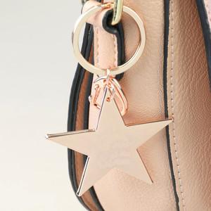 Rose Gold Shiny Star Keyring