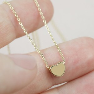 Short Heart Necklace in Gold