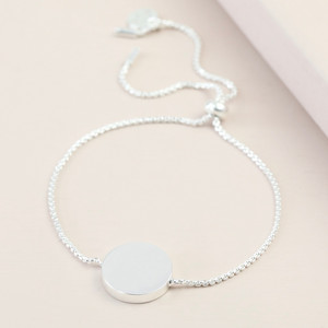 Box Chain and Disc Bracelet - Silver