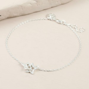 Silver Interlocking Star Bracelet