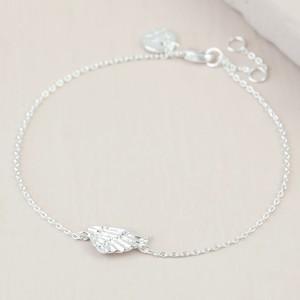 Silver Wing Charm Bracelet