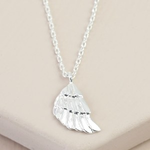 Silver Wing Charm Necklace