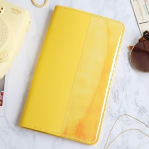 Slim Travel Wallet in Mustard