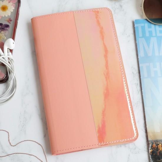 Slim Travel Wallet in Pink