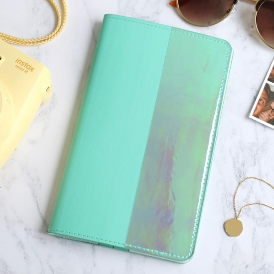 Slim Travel Wallet in Turquoise