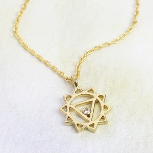 Solar Plexus Chakra Necklace In Gold