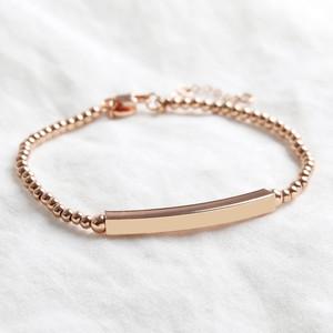 Rose Gold beaded bar bracelet 4mm tube (wider)