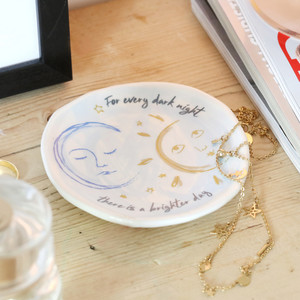 Sun and Moon Face Trinket Dish