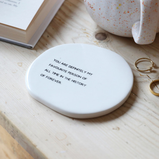 Favourite Person Organic Shape Coaster