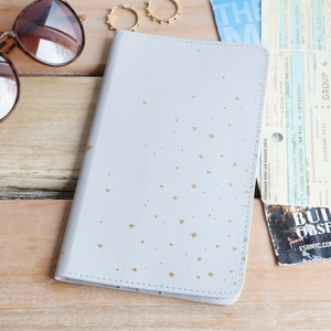 Grey Gold Stars Travel wallet