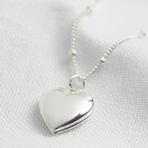 Heart Locket Necklace - Silver