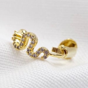 Gold Snake crystal ear cuff