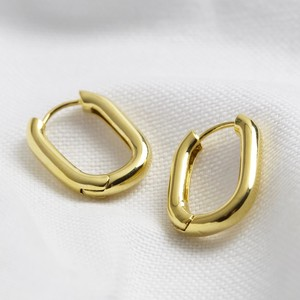 Gold Small Oval Tube Hoops