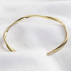 Organic Shiny Gold Bangle