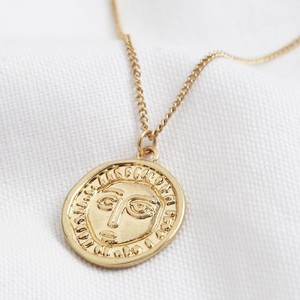 Gold Face Necklace