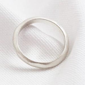 Silver organic band ring