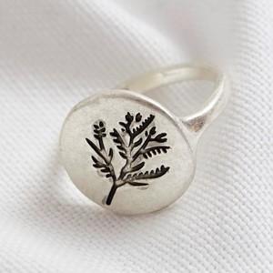 Silver Round Flower Ring