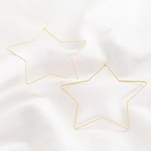 Gold Sparkly Star hoop Earrings