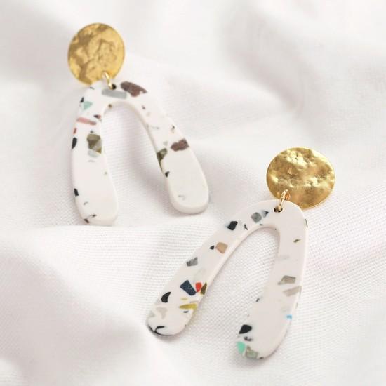 Resin Irregular shape earrings