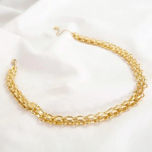 Luxe Close Link Chain Necklace Gold