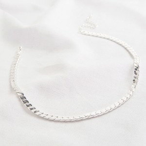Luxe Flat Link Curb chain in siver necklace
